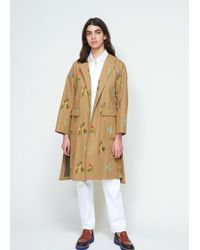 Tomorrowland | Flower Drill Belted Coat | Lyst