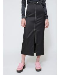 Eckhaus Latta - Black Side Zip Skirt - Lyst