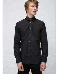 Maison Margiela | Black Garment Dyed Slim Fit Shirt | Lyst