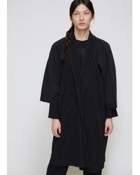 Homme Plissé Issey Miyake - Pleated Robe Coat - Lyst
