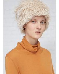 Marni - White Faux Fur Hat - Lyst