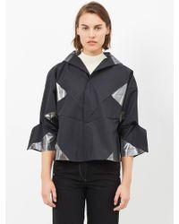 132 5. Issey Miyake - Black / Silver Jacket - Lyst