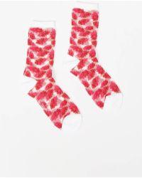 Y's Yohji Yamamoto - Pink See Through Feather Socks - Lyst