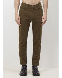 Acne Studios - Olive Cord Town Pants - Lyst