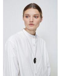 Quarry - White Bronze, Moonstone Bele Necklace - Lyst