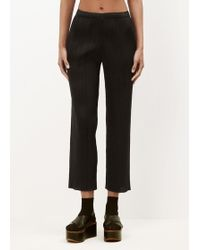 Pleats Please Issey Miyake - Black Basic Slim Pocket Pleated Trousers - Lyst