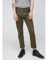 Acne Studios - Olive Town Twill Pants - Lyst
