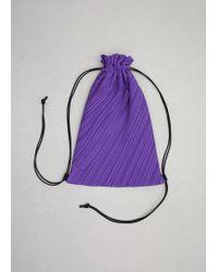Pleats Please Issey Miyake | Purple Backpack | Lyst