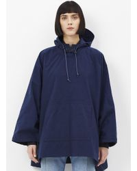 Grei. - Indigo Nylon Oxford Hooded Poncho - Lyst