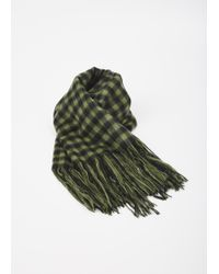 Hope - Green Check Cover Scarf - Lyst