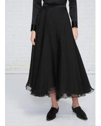 Lanvin | Black Long Full Skirt | Lyst