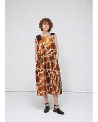 Ms Min - Pleated Dress - Lyst