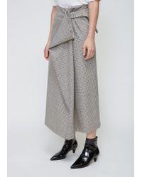 Viden - Front Fold Skirt - Lyst