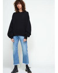 R13 - Pleated Sleeve Sweatshirt - Lyst