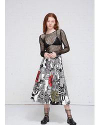 Junya Watanabe | Printed Pleated Skirt | Lyst