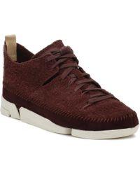 Clarks Mens Burgundy Trigenic Flex Sneakers - Multicolor