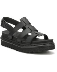 Dr. Martens Dr. Martens Womens Black Yelena Sandals