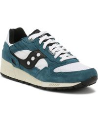 Saucony - Mens Teal / White / Black Shadow 5000 Vintage Trainers - Lyst