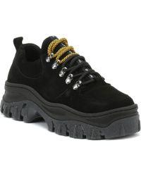 Bronx - Womens Black Jaxstar Chunky Hiker Boots - Lyst