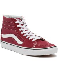 195f2965fa Vans - Dry Rose Red   True White Sk8-hi Trainers - Lyst