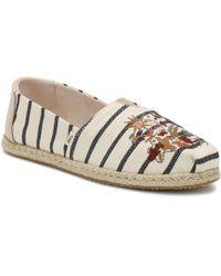 TOMS Ladies Alpargata Floral Embroidered Shoe - Multicolor