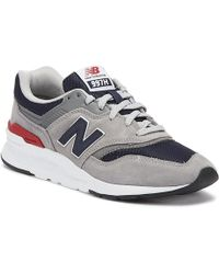 New Balance - 997 Mens Grey / Navy Sneakers - Lyst