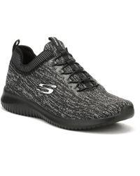 Skechers - Womens Black/ Charcoal Ultra Flex Bright Horizon Trainers - Lyst