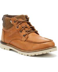 TOMS - Hawthorne Mens Dark Brown Leather Boots - Lyst
