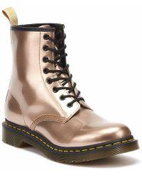 Dr. Martens - Dr. Martens Vegan 1460 Chrome Womens Rose Gold Boots - Lyst