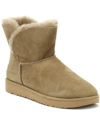 UGG - UGG Classic Cuff Mini Womens Brown Boots - Lyst