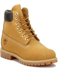 Timberland - Mens Wheat Premium 6 Inch Nubuck Leather Boots - Lyst