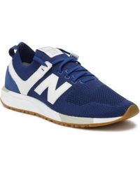 New Balance - Mens Blue / White 247 Trainers - Lyst