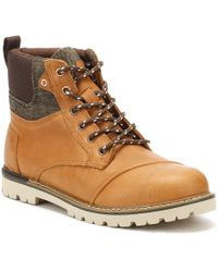 TOMS - Mens Dark Toffee Brown Leather Ashland Boots - Lyst