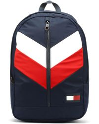 Tommy Hilfiger - Chevron Corporate Navy Backpack - Lyst