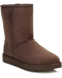 UGG - Ugg Womens Chocolate Classic Short Ii Sheepskin Boots - Lyst