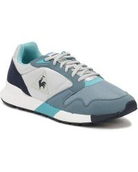 Le Coq Sportif - Womens Galet / Smoke Blue Omega X W Trainers - Lyst