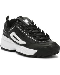 Fila - Disruptor Ii Premium Repeat Womens Black Trainers - Lyst