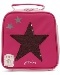 Joules - Pink Sequin Star Munch Bag - Lyst