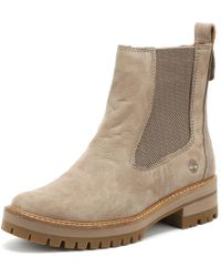 Timberland - Womens Taupe Courmayeur Valley Chelsea Boots - Lyst