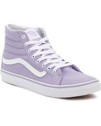 Vans | Womens Lavender Sk8-hi Slim Trainers | Lyst