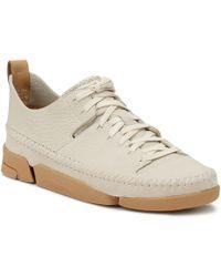Clarks - Womens Off White Trigenic Flex Sneakers - Lyst