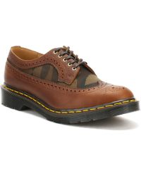Dr. Martens - Dr. Martens Mens Dark Tan Made In England 3989 Brogue Shoes - Lyst