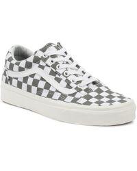Vans - Mens Pewter Grey / Marshmallow Old Skool Sneakers - Lyst