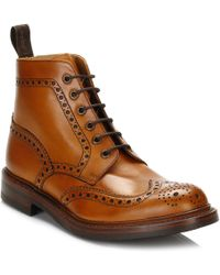 Loake - Mens Tan Bedale Leather Brogue Boots - Lyst