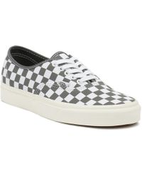 51416a3069 Vans - Mens Pewter Grey   Marshmallow Authentic Trainers - Lyst
