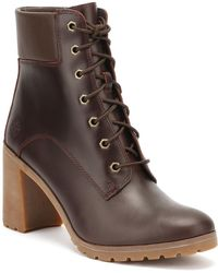 Timberland - Womens Redwood Burgundy Allington 6 Inch Boots Women's Mid Boots In Brown - Lyst