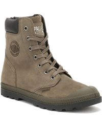 Palladium - Womens Major Brown Knit Pampa Hi Cuff Boots - Lyst