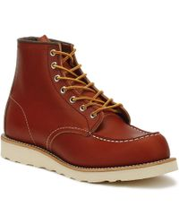 Red Wing - Mens Oro Russet Portage 6-inch Moc Toe Boots - Lyst