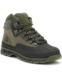 Timberland - Euro Hiker Shell Jacquard Mens Green Boots - Lyst