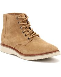 TOMS - Mens Toffee Brown Suede Porter Boots - Lyst
